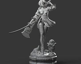 2b - Nier Automata Fanart Statue 3D print model