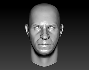 Vin Diesel head 3D printable model