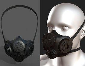VR / AR ready Gas mask helmet 3d safety isolated military