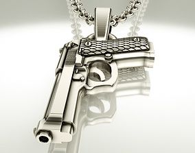 3D printable model Beretta pistol