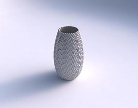 3D printable model Spacious vase with wavy grid piramides
