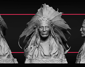 3D printable model Indian Bust Sculpture