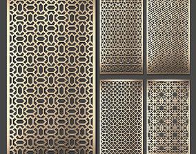 Decorative panel set 72 3D