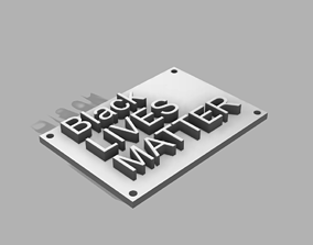 3D printable model Blacklivesmatter vertical