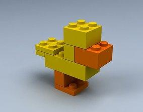 3D model Set of LEGO blocks