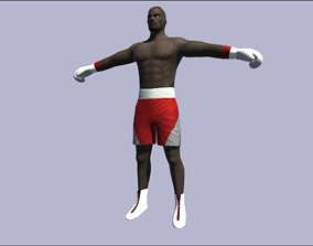 Rigged Boxer 3D model realtime