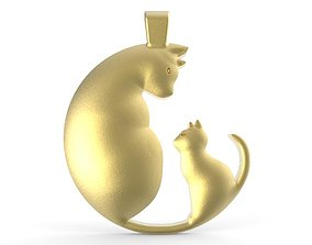 3D printable model Cat pendant 3