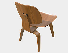 3D model Low Poly PBR Eames Wood Chair