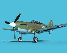 Curtiss P-40B Warhawk V13 USAAF 3D model