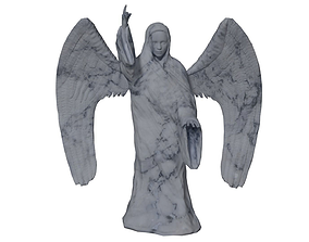 Angel Statue 3D model game-ready