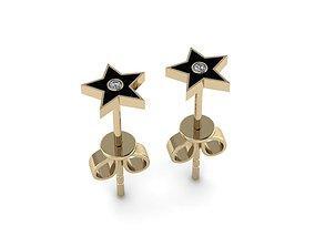 3D printable model Jewelry Enamel Earrings