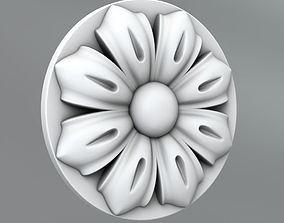 Carved Rosettes Medallions 3D model decor