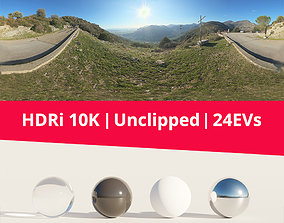 landscape HDRi Mountains and Panorama 3D model