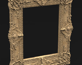 Frame Relief 9 3D Model wood