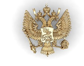 Russian two-headed eagle coat of arms 3D printable model