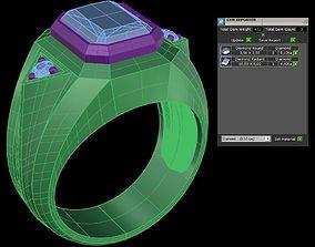 3D printable model Ring Man emerald