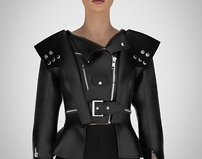 leather jacket clo3d