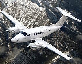 3D model Beechcraft King Air 300 Generic White