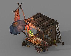 Night market-ground pendulum- market-flower shop 3D model