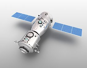 3D model Spacecraft Shenzhou nine earth Tiangong-1 manned