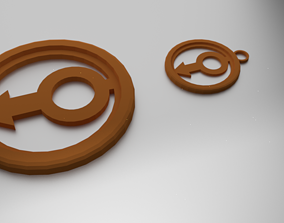 3D printable model Glass Coaster Male and Pendant