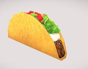 3D model Low poly Taco