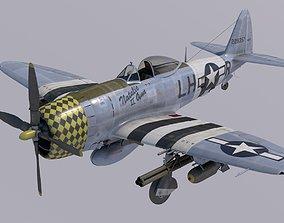 3D Republic P-47D Thuderbolt Natalie Ann 2