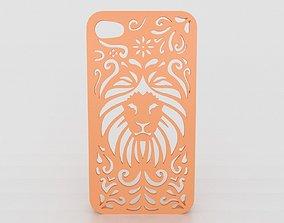 Tribal Lion Floral Iphone Case 5 5s 3D print model