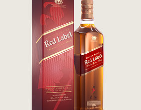 Johnnie Walker Red Label 3D asset