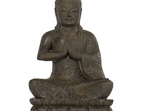Buddha statue 3D model game-ready