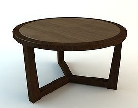 Wooden Tripod Table 3D model