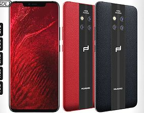 3D Huawei Mate 20 RS Black - Red