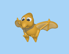 A cute Pterodactyl to decorate and 3D printable model