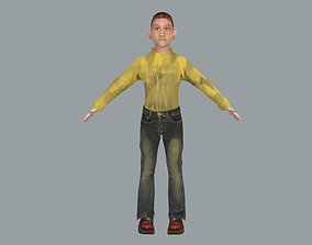 Child Female model Lowpoly rigged