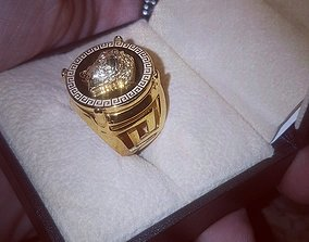 trending Versace rapper medusa ring 3D printing Model