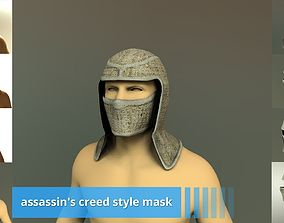 Game ready assassin creed style mask 3D model