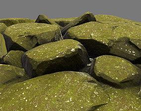 3D asset floor rock 1
