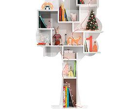 Treeshelf With Decor For Children Room 3D model