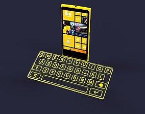 Touch mini keyboard 3D model