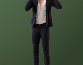 3D model Kim 10021 - Standing Business VR Girl