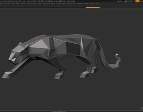 Panther Low Poly 3d Print