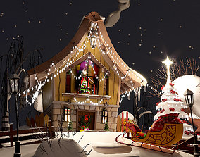3D asset realtime Merry Christmas