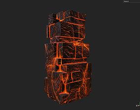 Low poly Lava Temple Block 04 181116 3D model