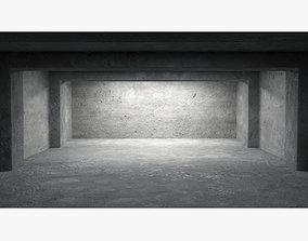 Empty room interior 06 3D