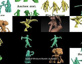 3D model wood elf Miniature Bundle