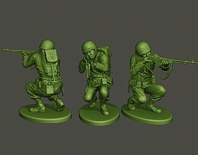 3D printable model American soldier ww2 Shoot crouched