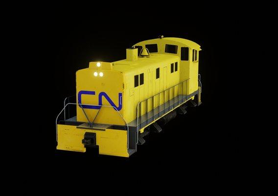 Diesel locomotive 3D model textures 4K PBR