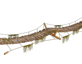 Lowpoly Jungle Bridge 3D model