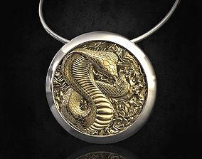 3D printable model Cobra pendant