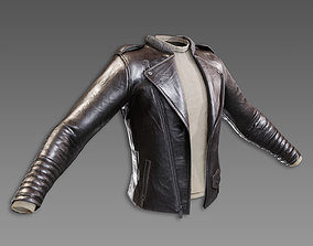 Lowpoly PBR Leather Jacket 3D asset